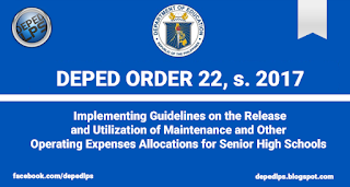 Implementing Guidelines on the Release and Utilization of Maintenance and Other Operating Expenses Allocations for Senior High Schools