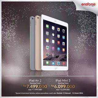 Promo iPad Air 2 dan iPad Mini 3 Diskon Rp 500 Ribu