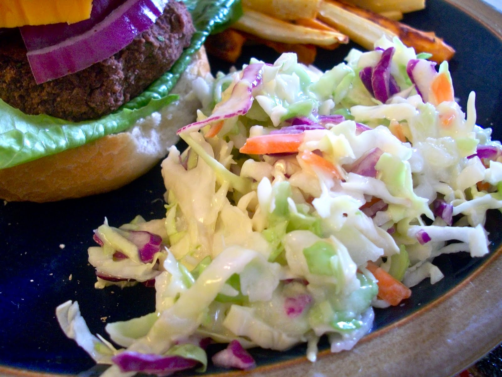 Brooke Bakes Black Bean Veggie Burgers And Vegan Coleslaw