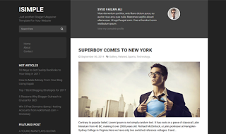 iSimple Classic Blogger Template