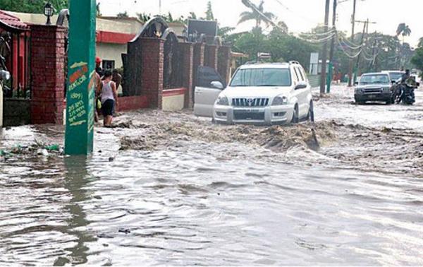 Fuertes lluvias afectaron gran parte del Cibao