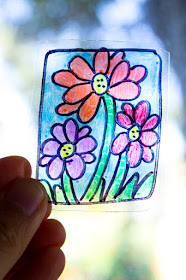 Super Easy Recycled Sun catchers- easy and fun kids craft