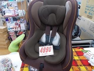 チャイルドシート4990円、0歳~4歳対応ブラウン