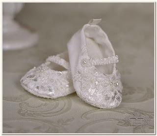 туфельки для крещения, пинетки крестильные