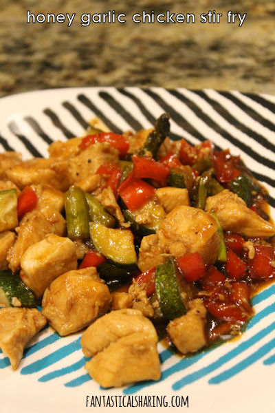 Honey Garlic Chicken Stir Fry #recipe #maindish #chicken #honey #stirfry