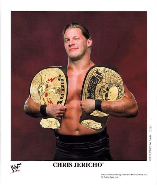 Chris Jericho defeated The Rock and Stone Cold Steve Austin at the same night unifying both World Championship titles and becoming the first Undisputed Champion