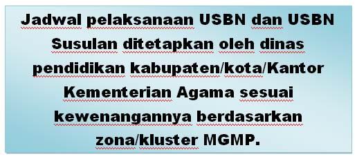Jadwal USBN SMP