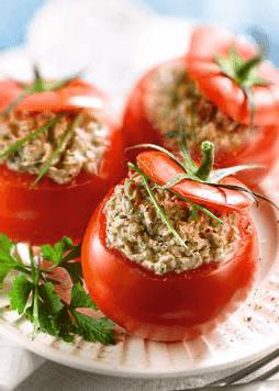 Tomates aux sardines
