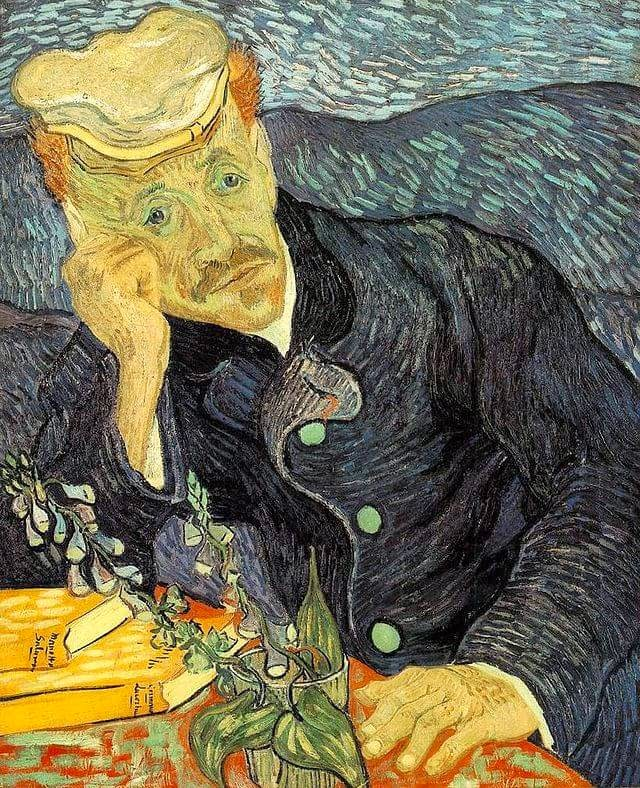 Vincent van Gogh Portrait of Dr. Gachet. 1890
