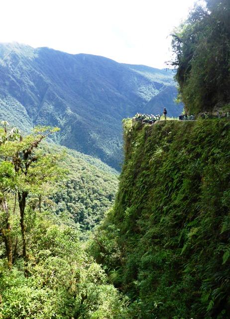 Carretera de la muerte en Bici desde La Paz