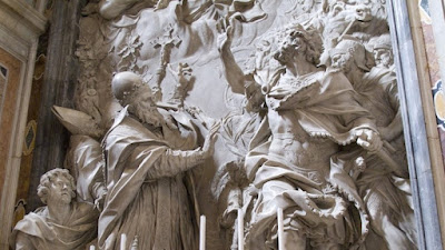 Pope St. Leo I with Attila the Hun
