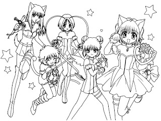 Desenhos de anime para colorir