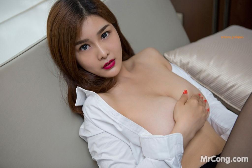 Image Yan-Pan-Pan-Part-4-MrCong.com-022 in post Người đẹp Yan Pan Pan (闫盼盼) hờ hững khoe vòng một trên giường ngủ (40 ảnh)