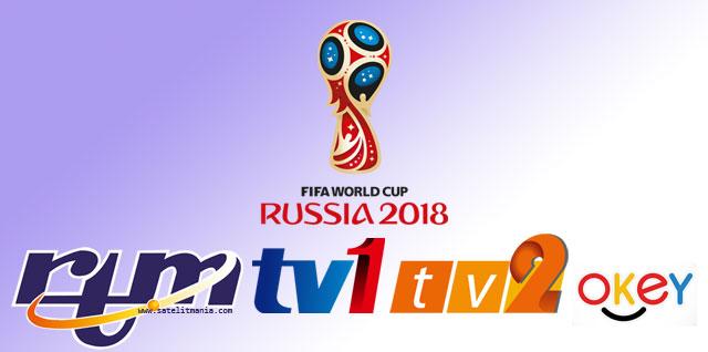 TV1 dan  TV2 Malaysia Siarkan Piala Dunia 2018 Rusia