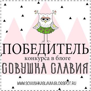 Победитель конкурса в блоге Совушка Славия