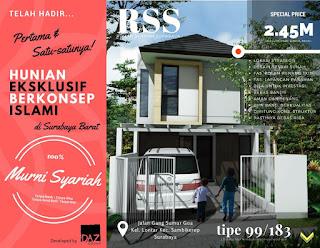 Rumah Eksklusif Surabaya Barat dengan Kolam Renang dan Lapangan Panahan