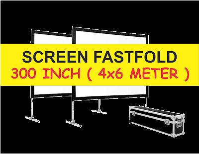 Sewa Rental Screen dan Layar Proyektor Fastfold 4x6 meter Murah Berkualitas Surabaya Sidoarjo Gresik