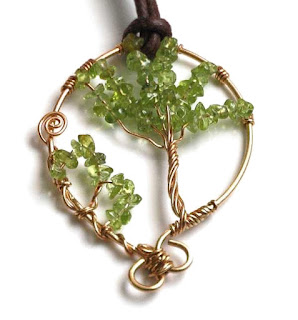 Tree of Life - Peridot and Bronze