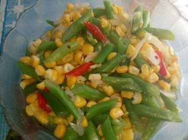 Resep tumis buncis jagung manis