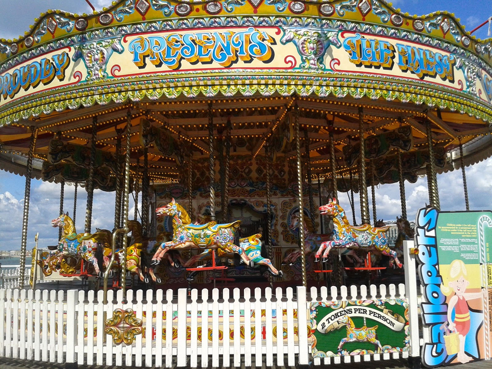 A carousel on Brighton Pier