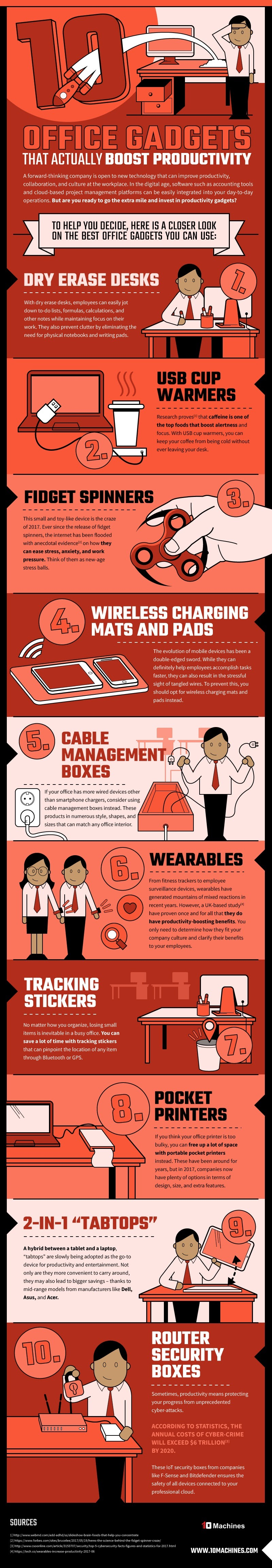 10 Desk Hacks to Improve Your Thinking and Alertness At Work [infographic]
