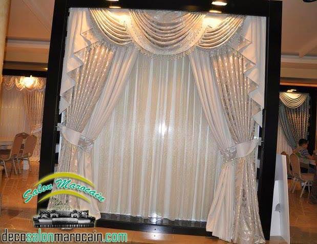 boutique salon marocain 2018 2019 rideaux voilage. Black Bedroom Furniture Sets. Home Design Ideas