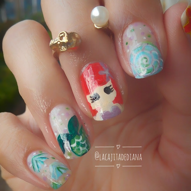 LittleMermaidPrincess-nailart