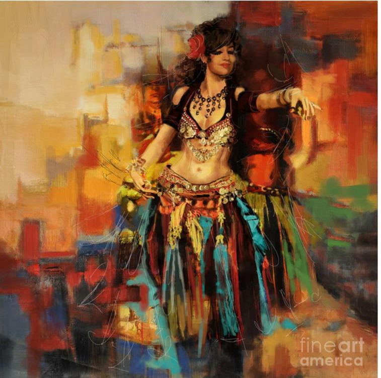 imgenes de mujeres bailarinas exticas orientales abstractos modernos con mujeres bailarinas en pinturas modernas cuadros de abstractos con mujeres