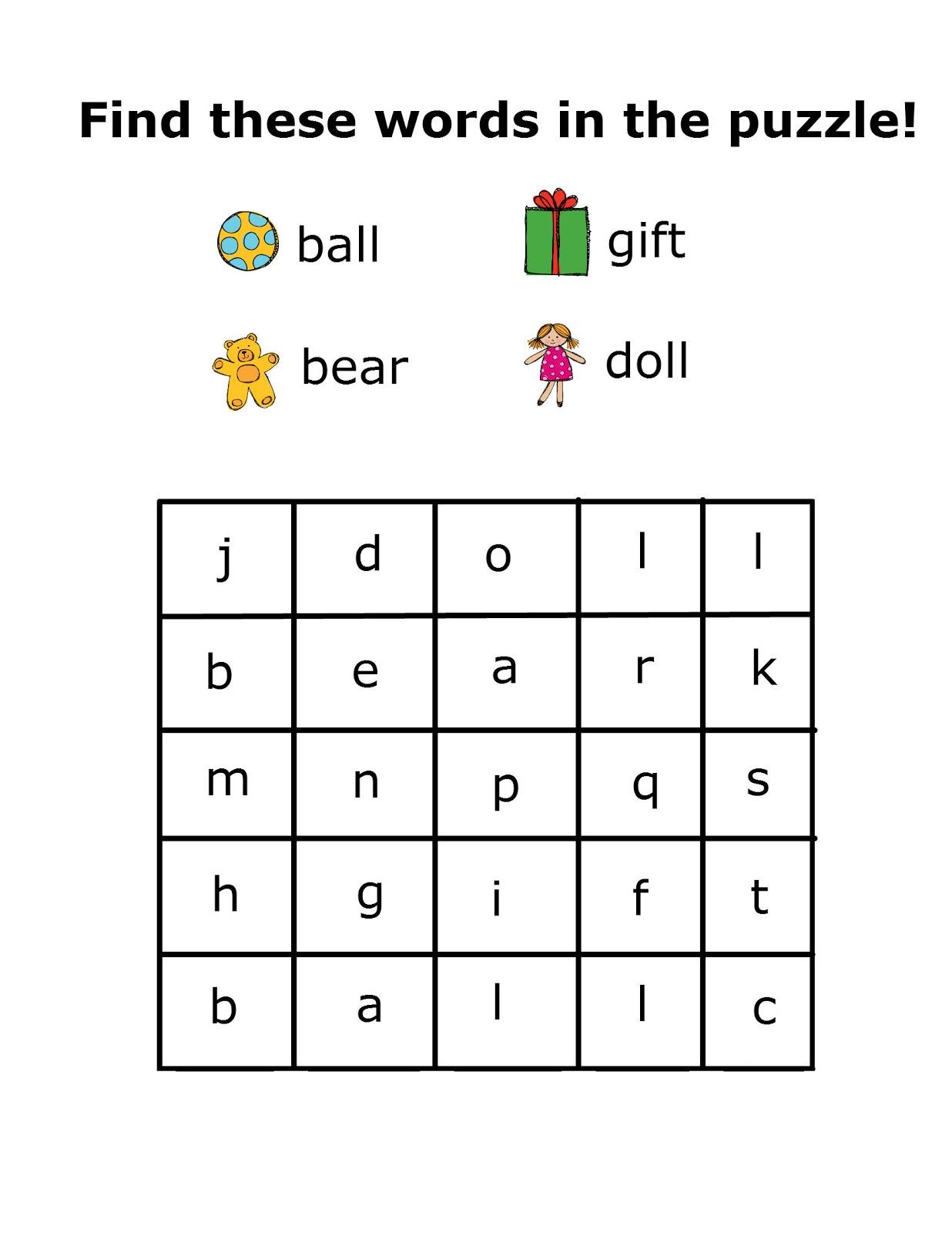 Word+Search+2 - Kids Word Search Kindergarten