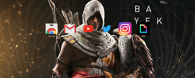 Assassins Creed Origins Bayek Theme FOR Chrome 2017