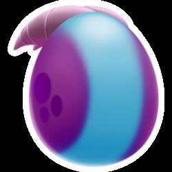 Apariencia del Dragón Rollizo de huevo.