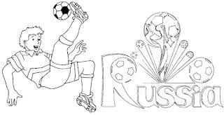 Desenhos Colorir Copa do Mundo 2018 Rússia Imprimir Desenhar Pintar