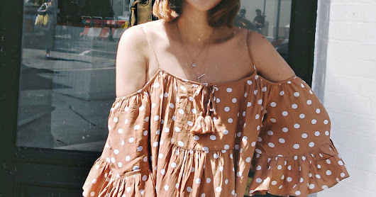 Tularosa Off shoulder dress | London Street Fashion | 2018 Summer outfit