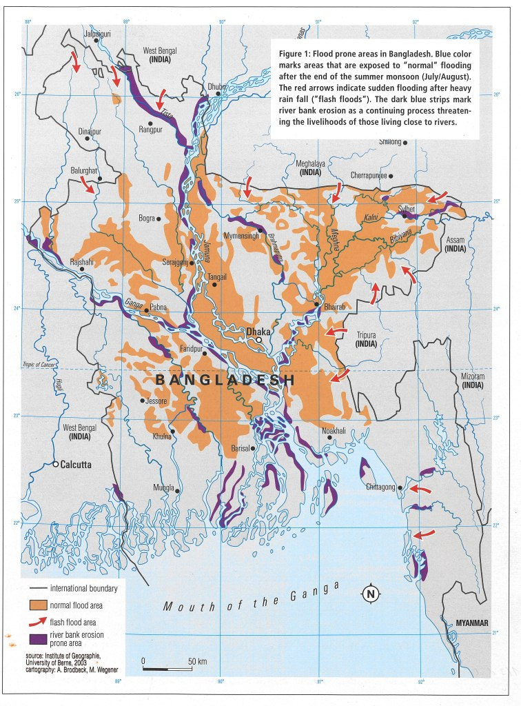Flood Prone Area Map Bangladesh