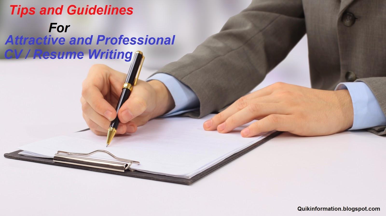 curriculum vitae writing services