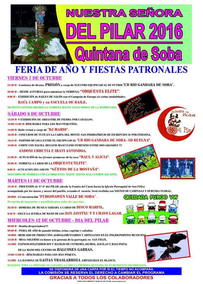 Nuesta Señora del Pilar 2016 en Quintana de Soba