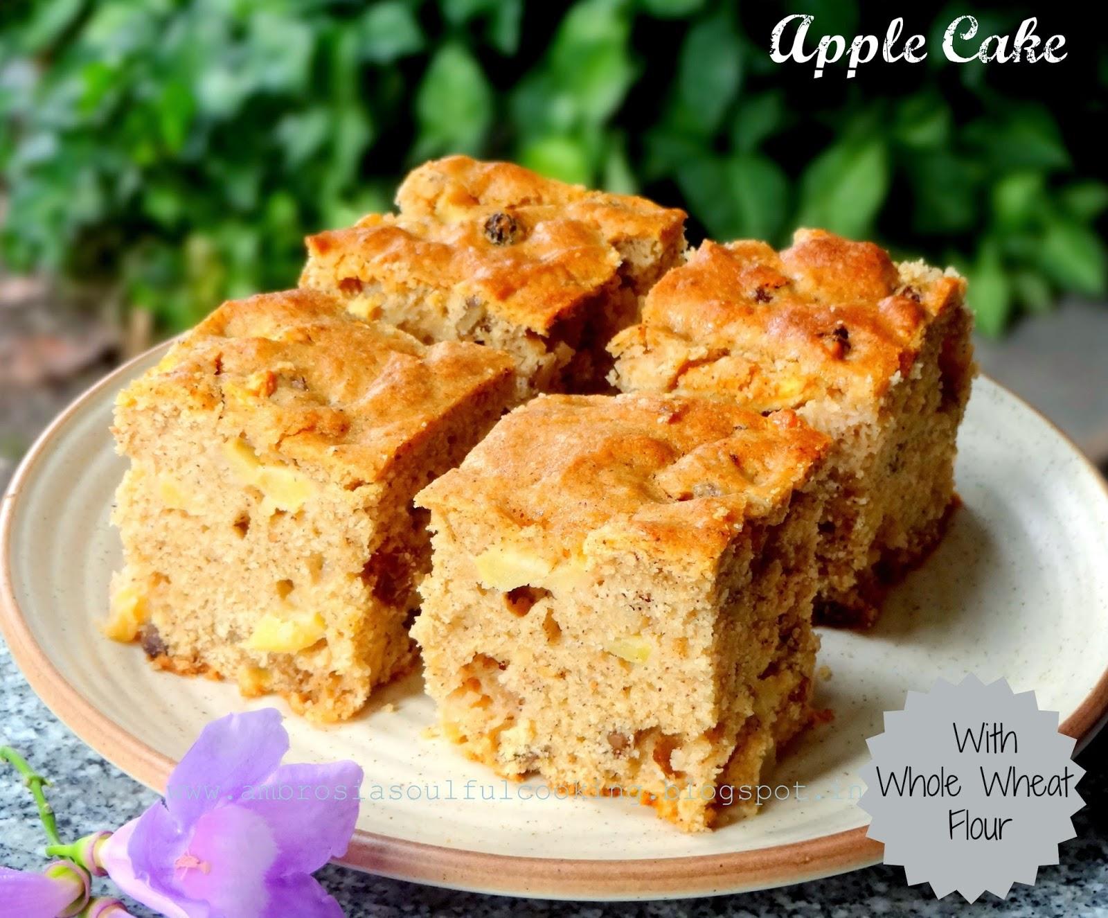 AMBROSIA: Apple Cake (With Whole Wheat flour)