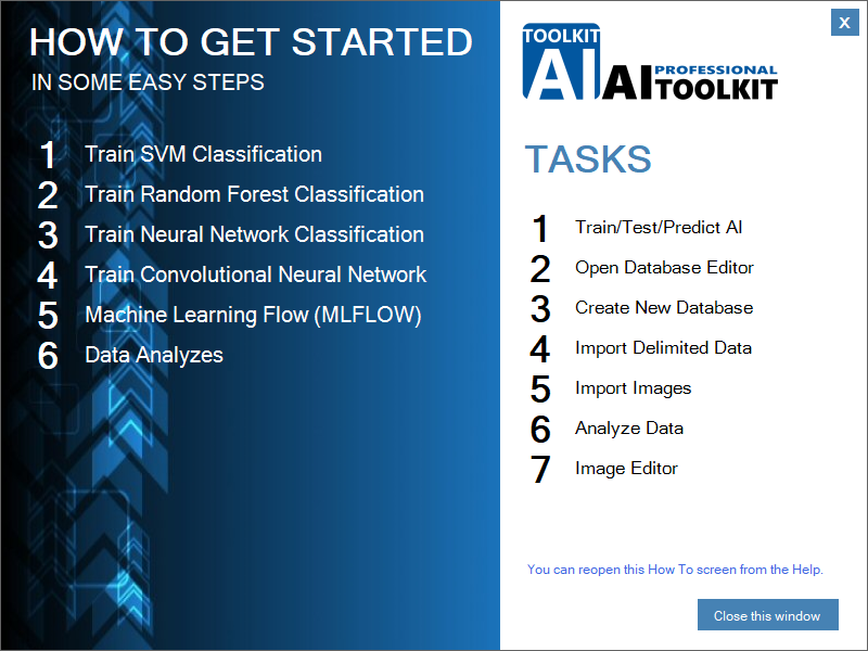 How-to use screen AI-TOOLKIT Professional with videos.
