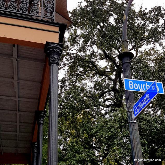 Esplanade Avenue, no Faubourg Marigny, Nova Orleans