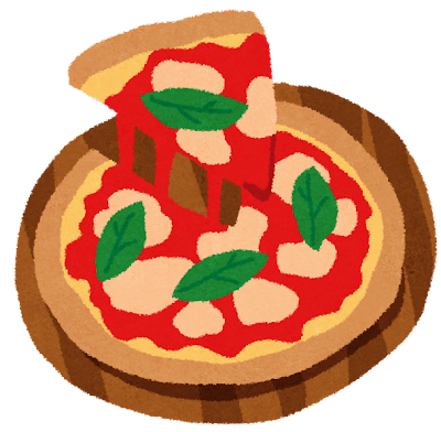 ピザのイラスト「マルゲリータ」
