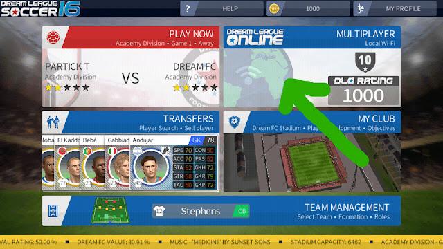لعبة كرة قدم شراكة تلعب مع شريك او صديق عبر الويفي WIFI لهواتف الاندرويد