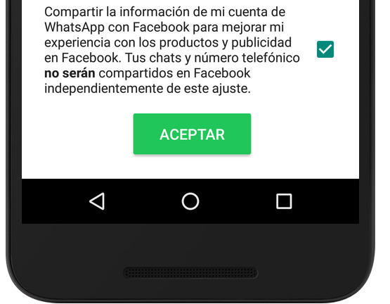 terminos whatsapp facebook