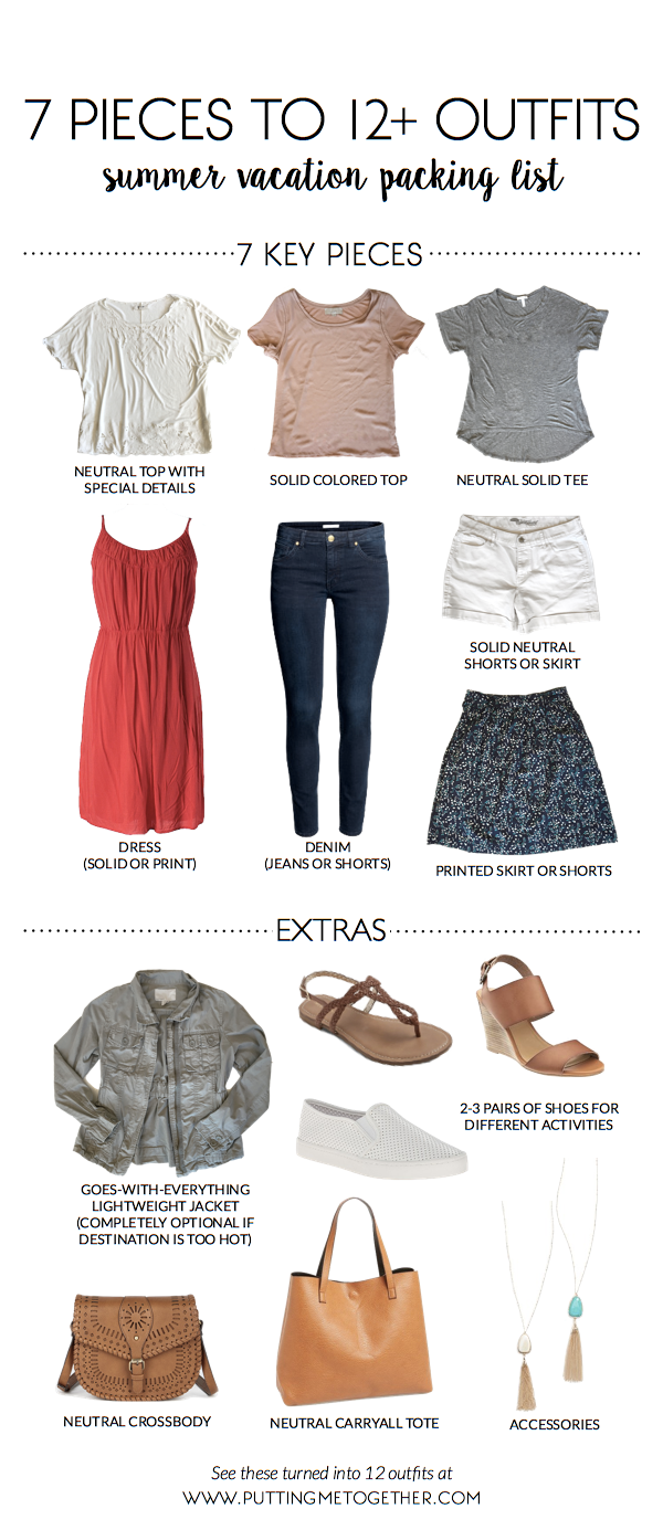 summer vacation packing list  7 pieces to 12 outfits   40