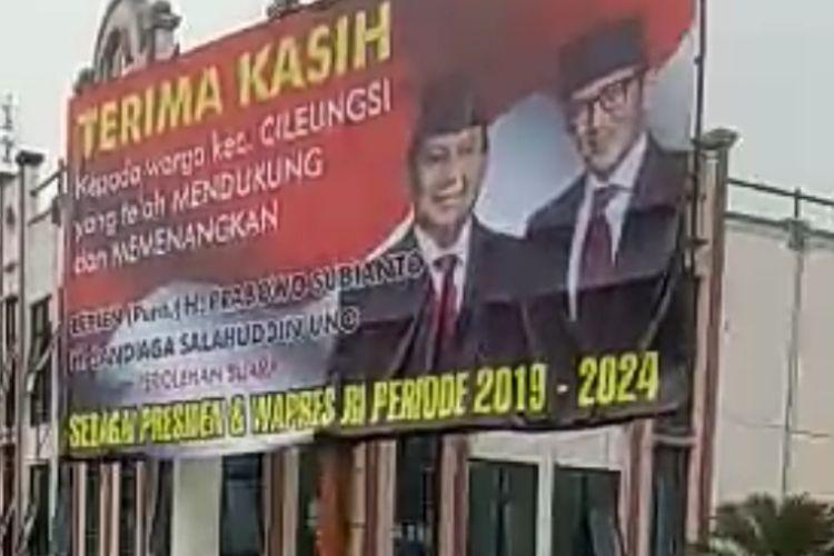 Komentar Memalukan Dari Banwaslu Mengenai Baliho Raksasa Dari Kemenangan Capres Di Bogor