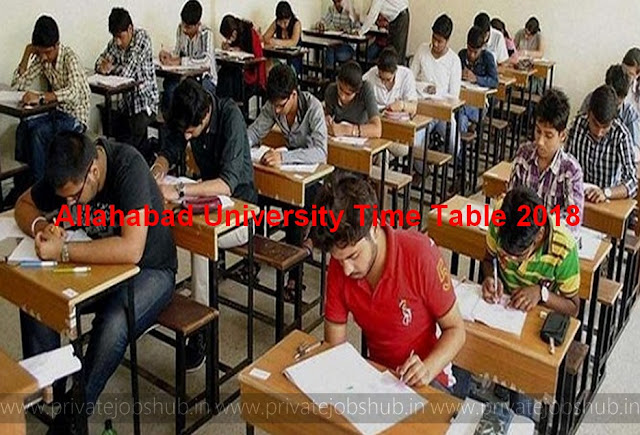 Allahabad University Time Table