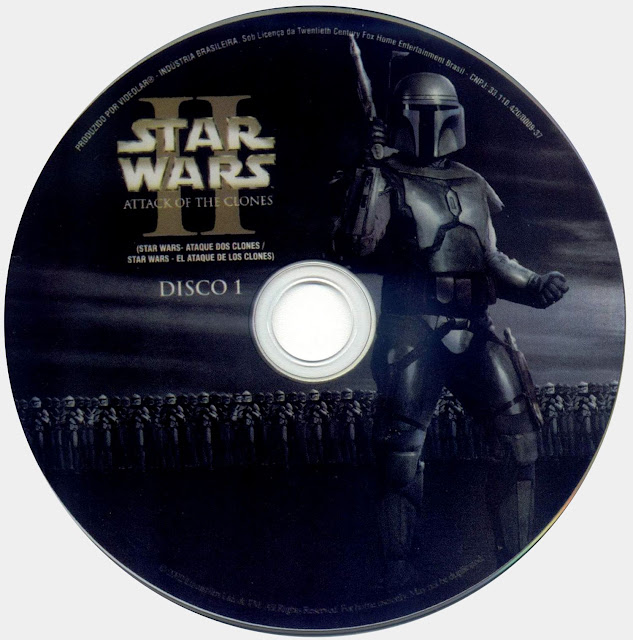 Label DVD Star Wars II Ataque Dos Clones