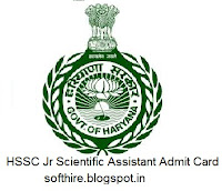 HSSC Jr Scientific Assistant Admit Card