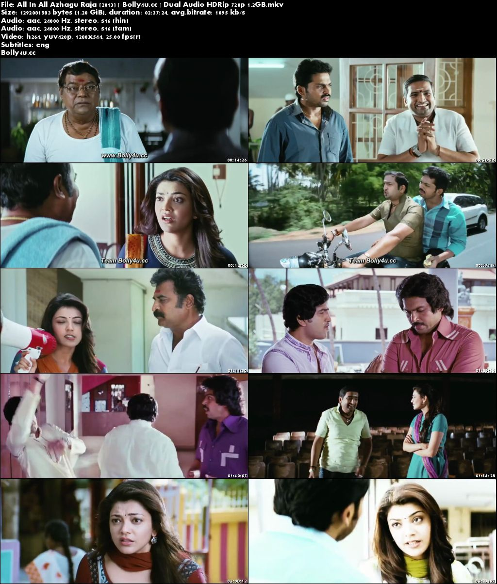 All In All Azhagu Raja 2013 HDRip 500MB UNCUT Hindi Dual Audio 480p Download