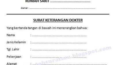 Contoh Surat Dokter Di Medan
