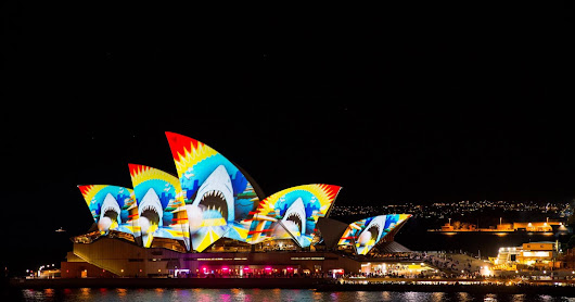 Vivid Sydney on The Rocks